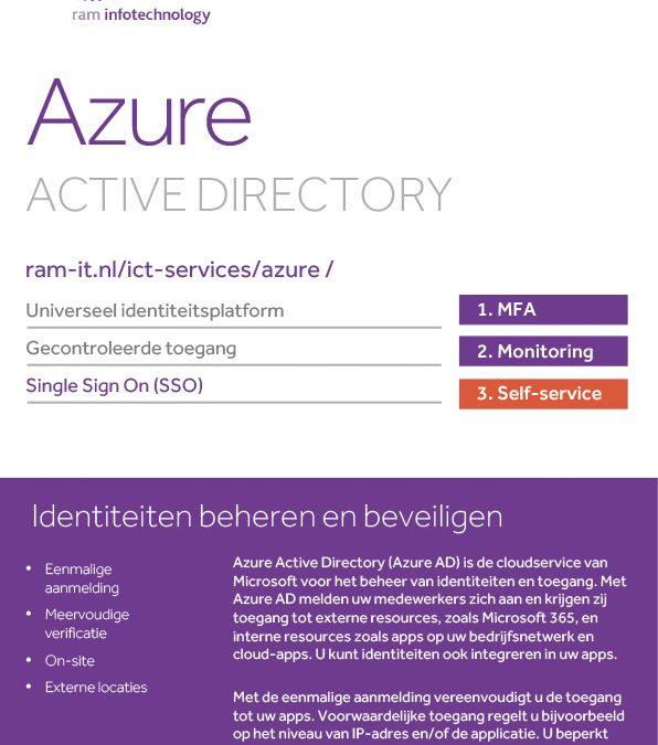 Azure Active Directory voor beheren en beveiligen van identiteiten en toegang