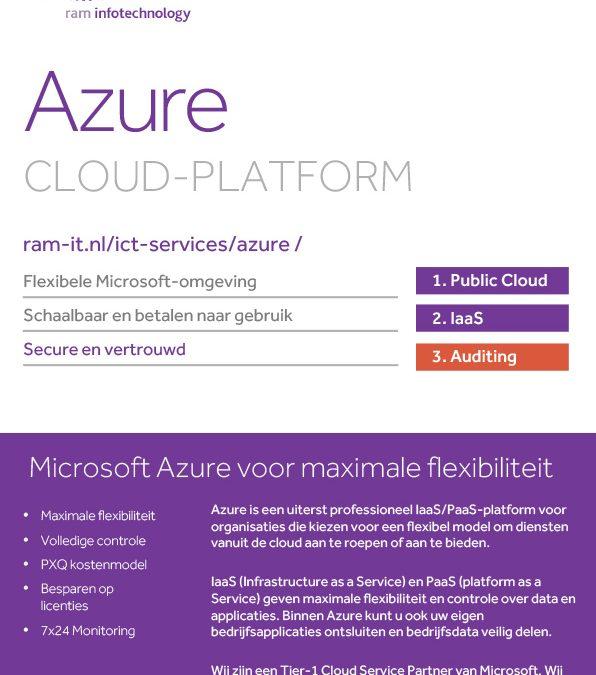 Azure Cloud-platform voor maximale flexibiliteit