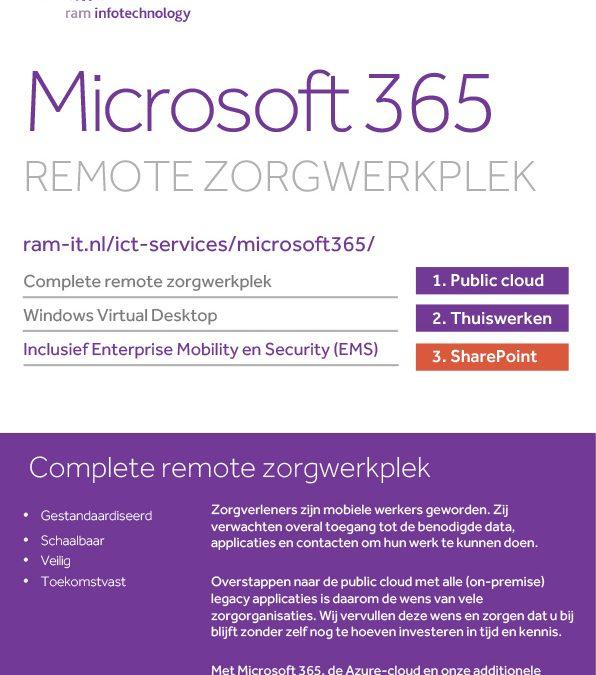 Microsoft 365 remote zorgwerkplek